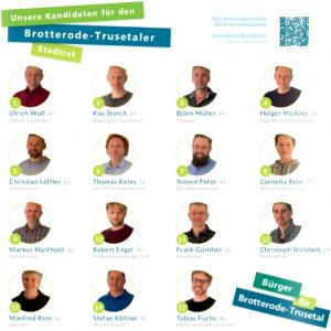 Kanditaten Stadtrat 2019 Brotterode und Trusetal